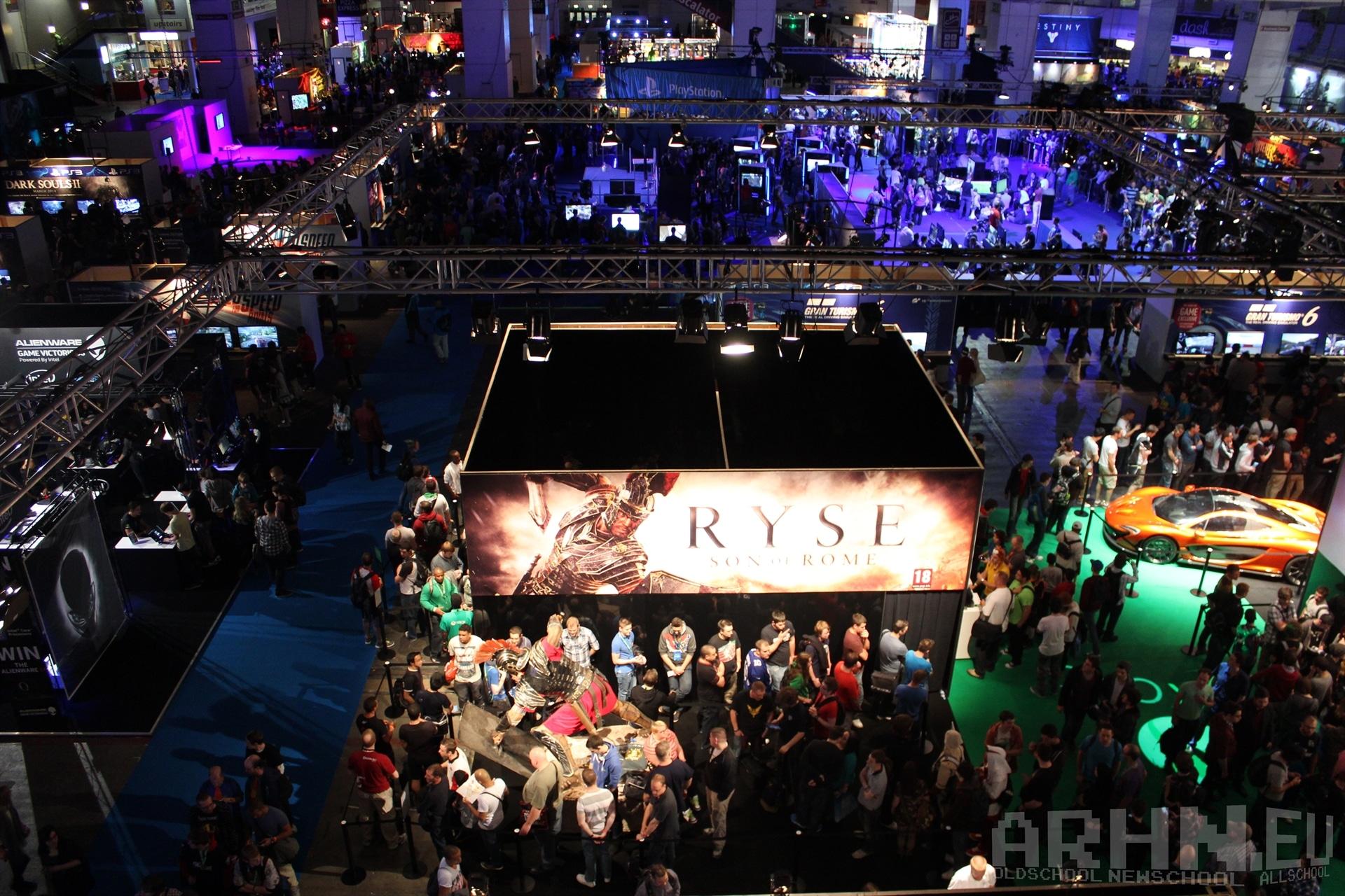Widok na targi Eurogamer Expo