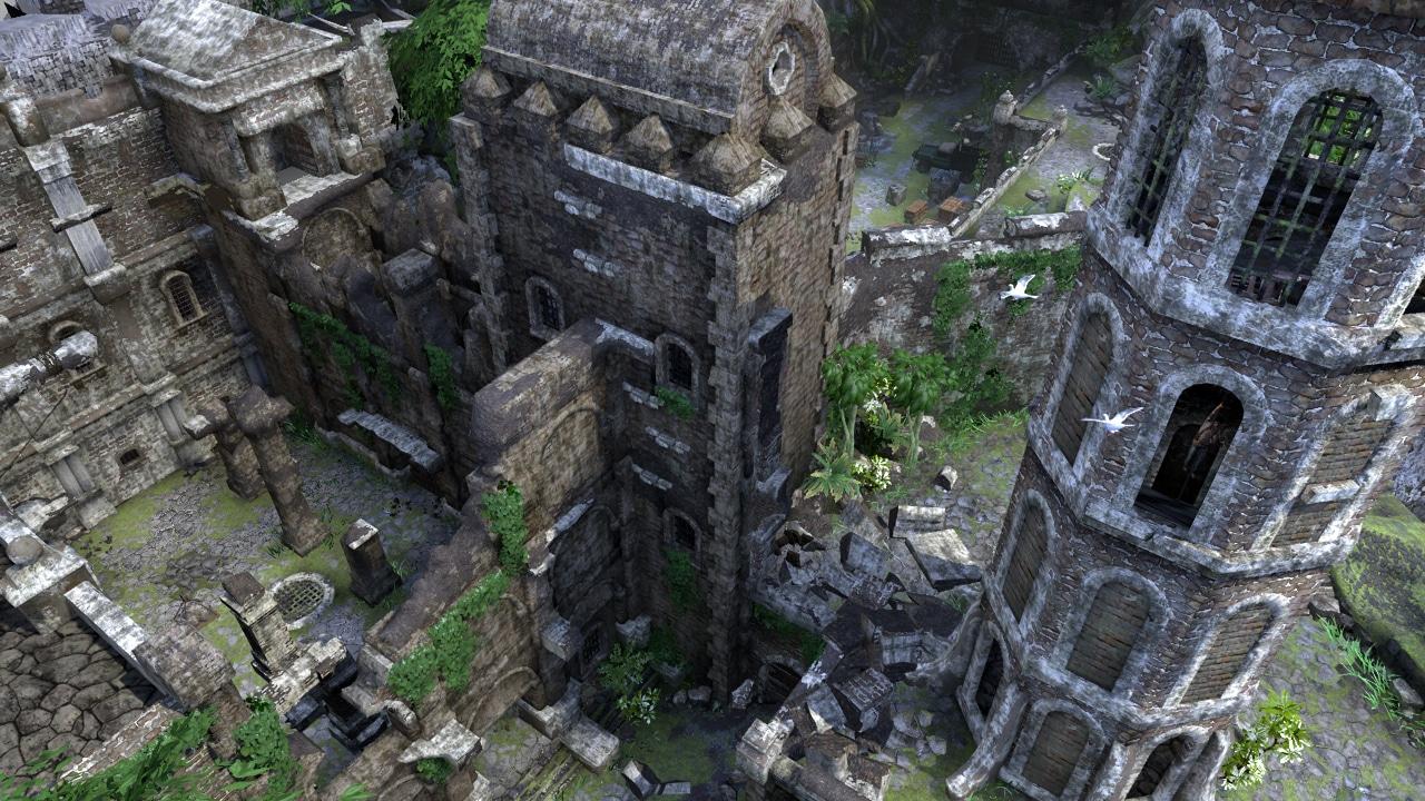 Widok na piękny fort w Uncharted: Drake's Fortune