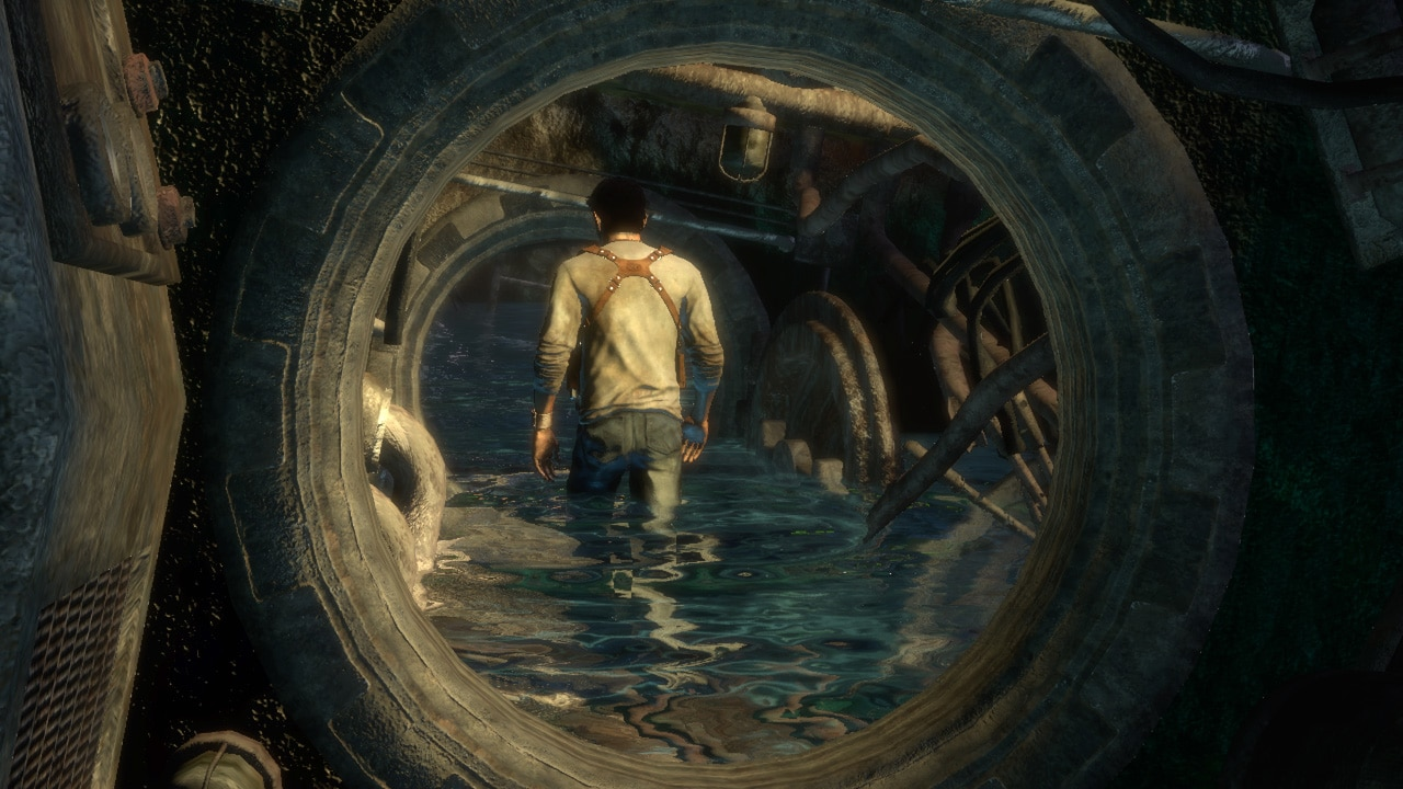 Drake idzie wodą w Uncharted: Drake's Fortune