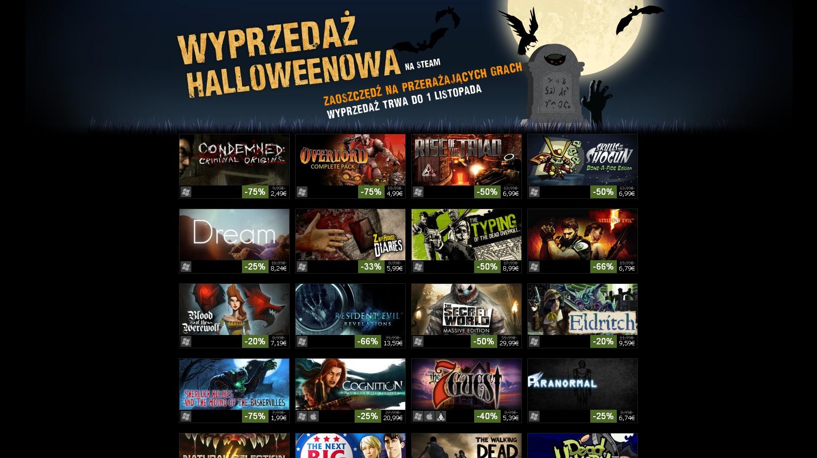Halloweenowa przecena