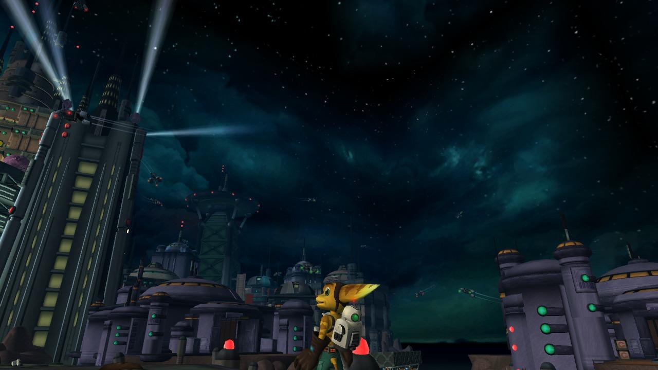 Ratchet and Clank patrzą