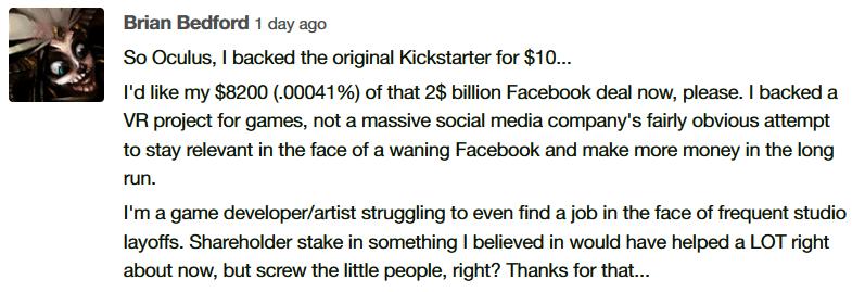 Niezadowolony użytkownik Kickstartera.