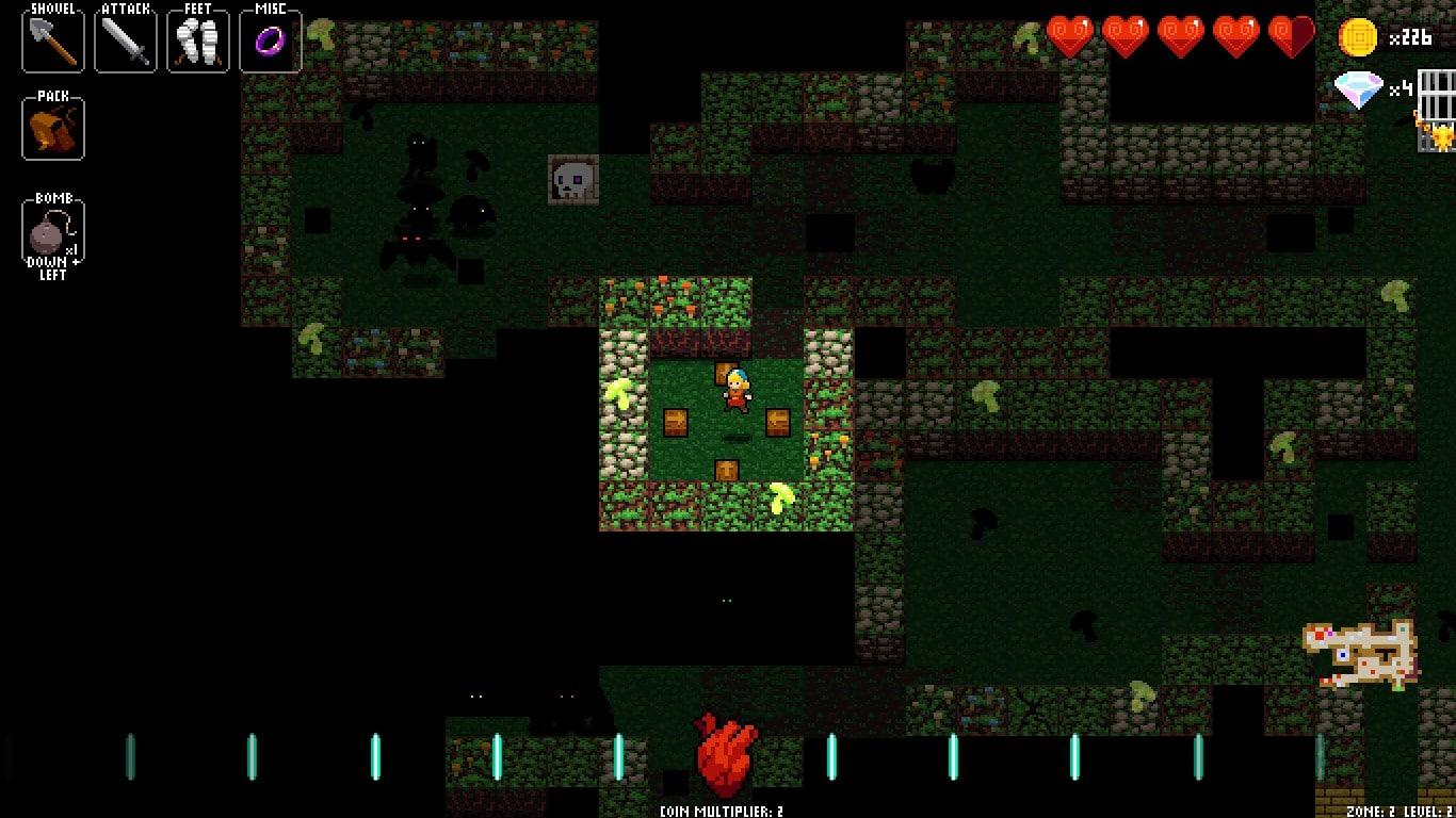 Zrzut ekranu z Crypt of the NecroDancer
