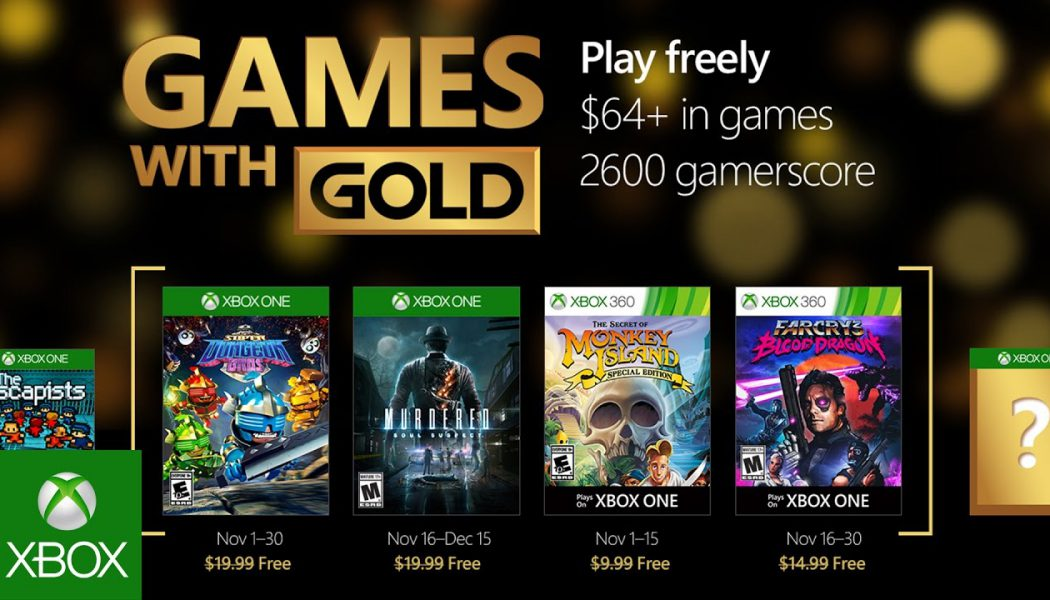 Oferta Games with Gold w listopadzie