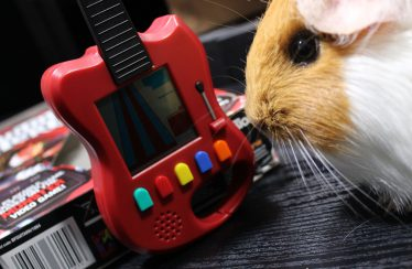 Konsola Guitar Hero — miniaturowa gitara
