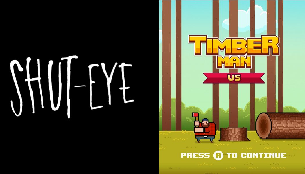 Potrójny zestaw Forever Entertainment na Switch – Timberman VS | Shut Eye | Realpolitiks