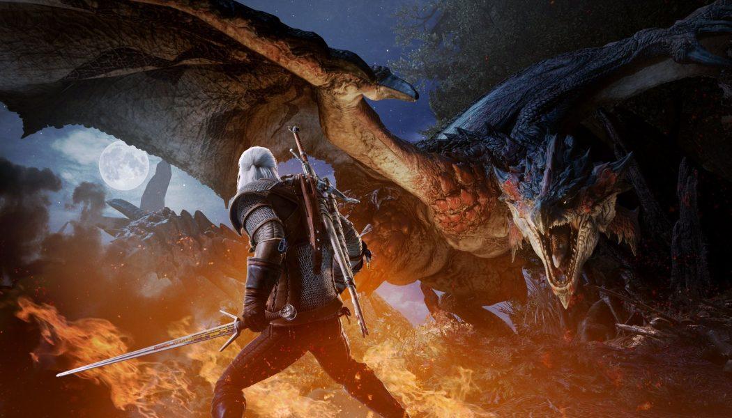 Geralt przybywa do świata Monster Hunter World już w następnym miesiącu